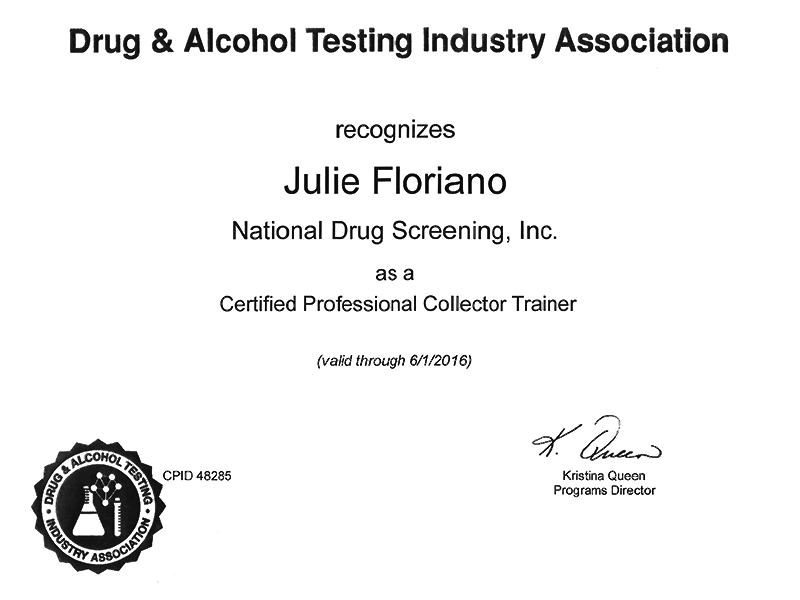 Julie Floriano datia certified professional collector trainer