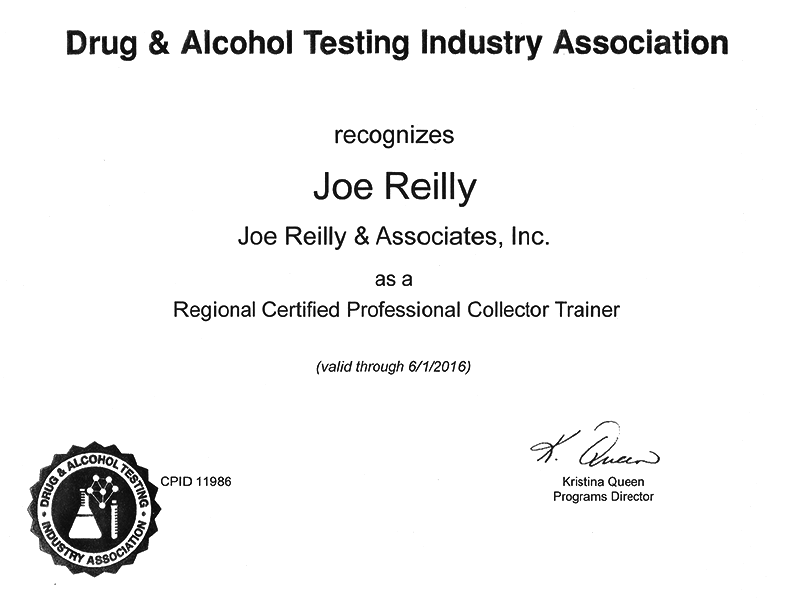 Joe Reilly datia certified professional collector trainer