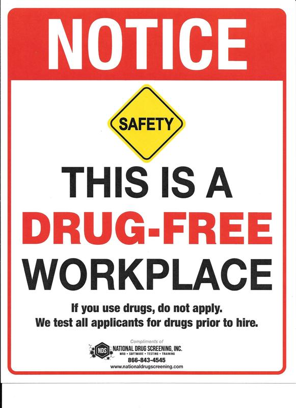 Creating a Drug Free Workplace
